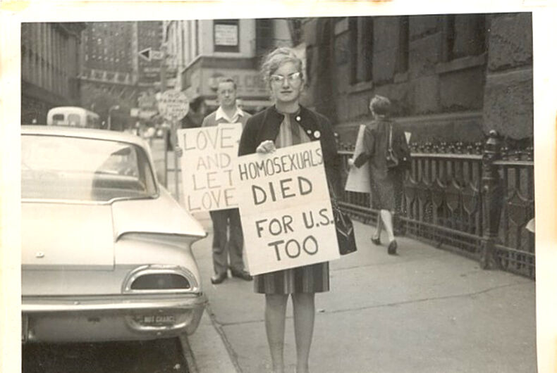 The first organized gay rights protest was five years before Stonewall