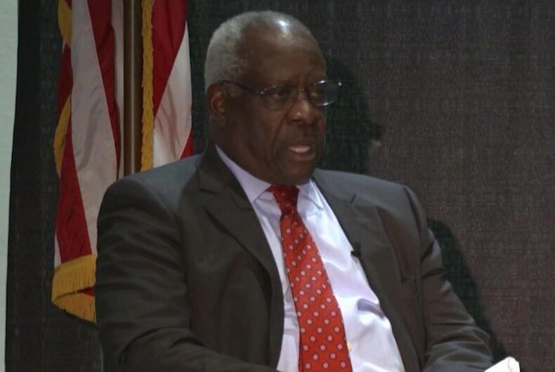 Clarence Thomas, U.S. Supreme Court Justice, anti-gay, anti-LGBTQ