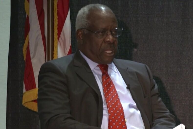 Clarence Thomas, U.S. Supreme Court Justice, anti-gay, anti-LGBTQ