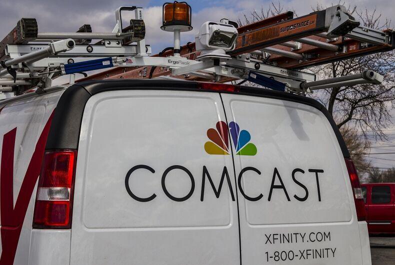 A Comcast van