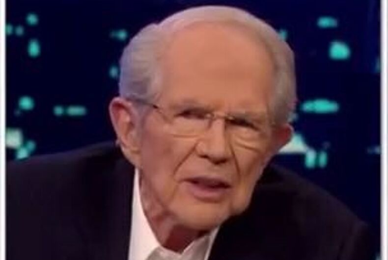 Pat Robertson talks on the 700 Club