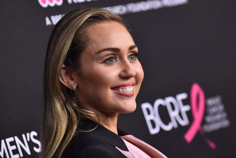 Miley Cyrus arrives to