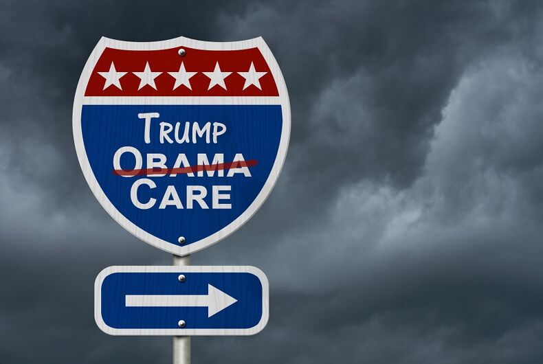Obama trump care sign