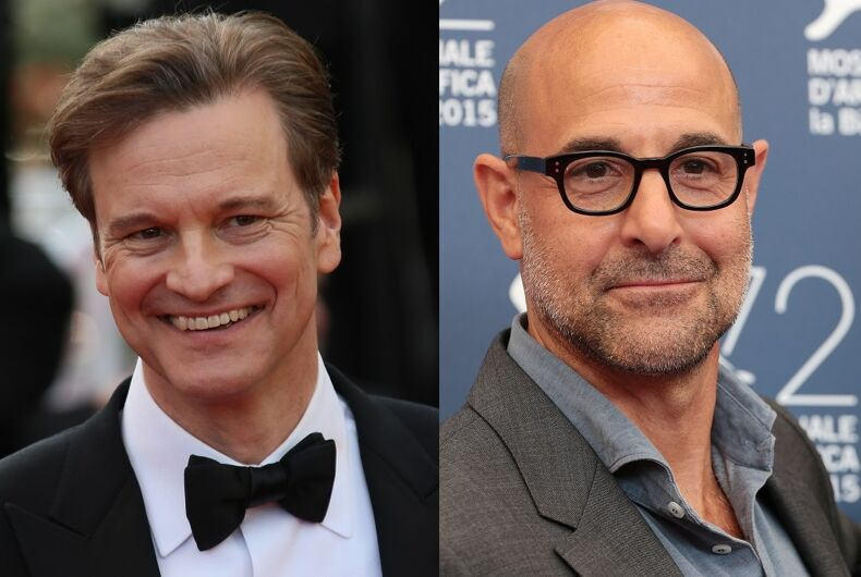 Colin Firth and Stanley Tucci