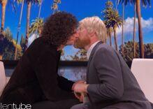 "Ellen's body double Ross ""kissed"" Howard Stern on her show"