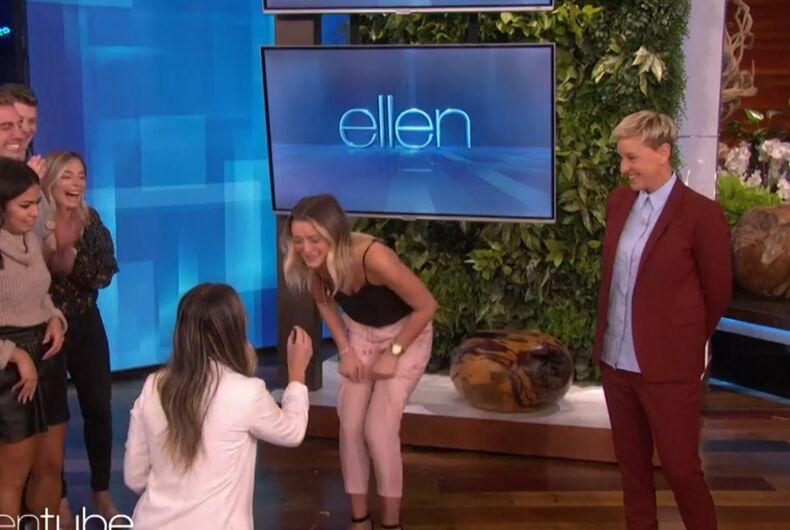 Sarah proposes on Ellen's show