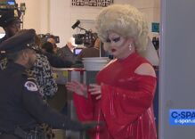A drag queen news reporter snatched wigs at the Trump impeachment hearings