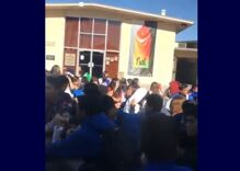 200 students walk out of school in support of terrorized lesbian classmate