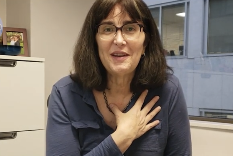 Mara Keisling, speaking in a video for Trans Awareness week in 2018.