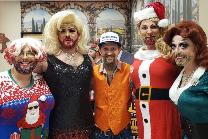Zachary Moses, gubernatorial candidate, celebrates the holidays with Utah Stonewall Democrats.