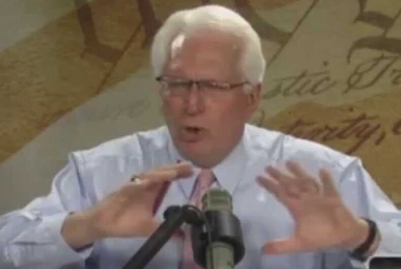 Bryan Fischer is a media figure with the anti-LGBTQ group, The American Family Association