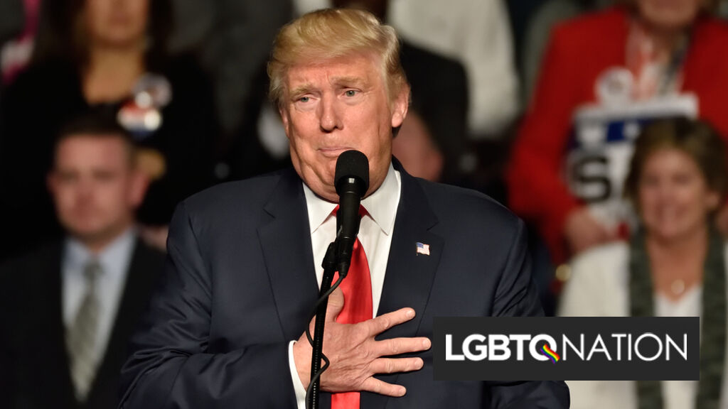 "Donald Trump touts hookup app poll to prove he's the ""most pro-gay president in American history"""