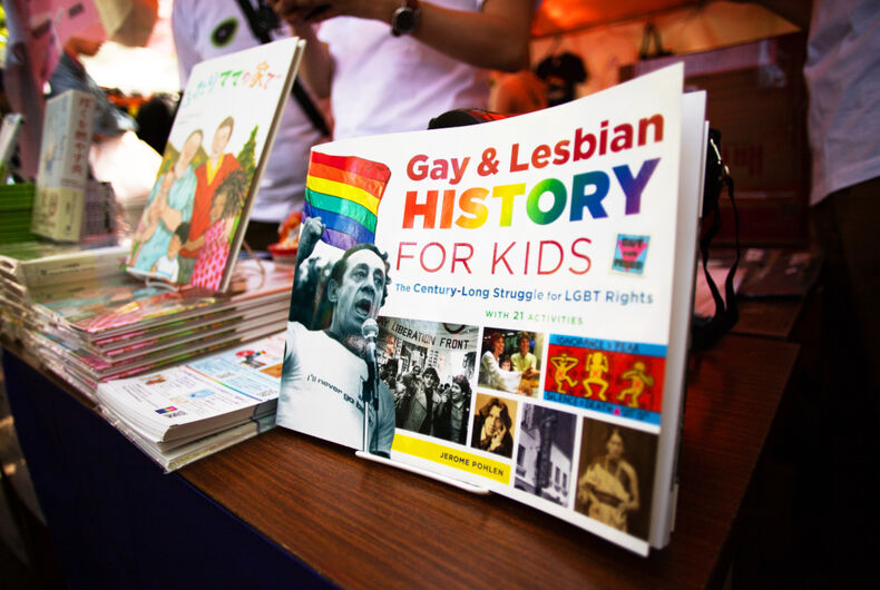 A book on LGBTQ history for kids on display in Tokyo, Japan on April 28, 2019.