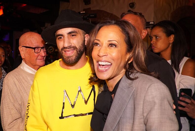 Sen. Kamala Harris visited the world-famous bar, the Abbey in West Hollywood in October 2019.