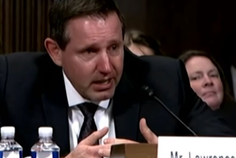 Lawrence VanDyke crying at Senate confirmation hearings