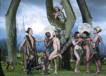 Church yanks artwork that showed lesbian Eves & gay Adams