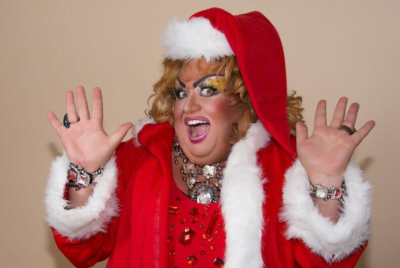 Santa drag queen