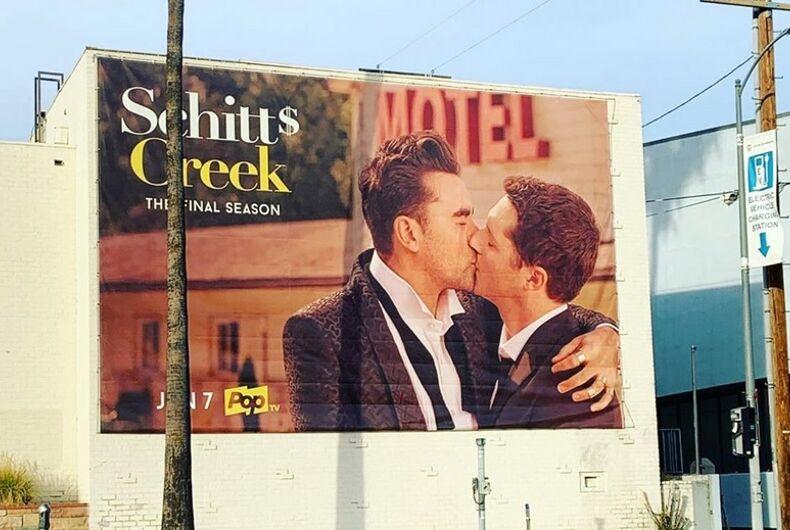 The Schitt's Creek billboard