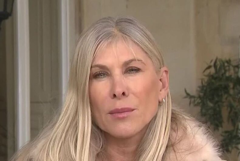 Sharron Davies, a former Olympic swimmer who opposes drag and transgender athletes.