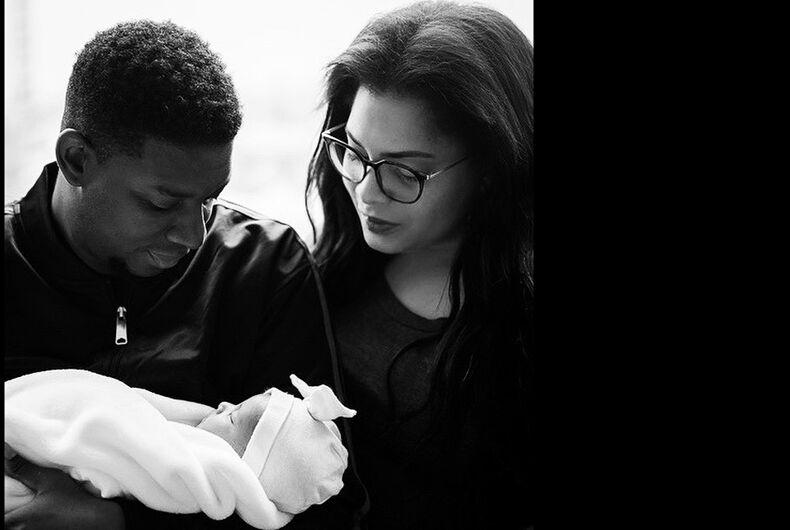 Myles and Precious Brady-Davis with their new daughter, Zayne.
