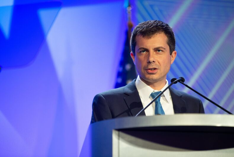 August 8, 2019: Mayor Pete Buttigieg addresses the audience at the National Association of Black Journalists convention