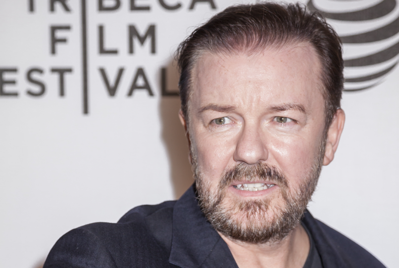 April 22, 2016: Actor Ricky Gervais attends the 'Special Correspondets' premiere during the 2016 Tribeca Film Festival at the John Zuccotti Theater at BMCC Tribeca PAC, NYC