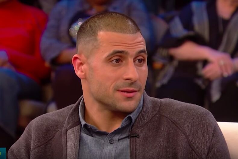 Jonathan Hernandez, brother of convicted murderer and former NFL player Aaron Hernandez, discussing his brother's homosexuality on the Dr. Oz talk show