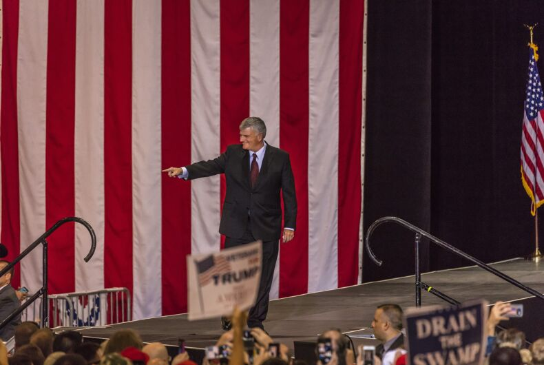 AUGUST 22, 2017, PHOENIX, AZ: Reverend Franklin Graham appears at the Phoenix Convention Center during a Trump 2020 rally