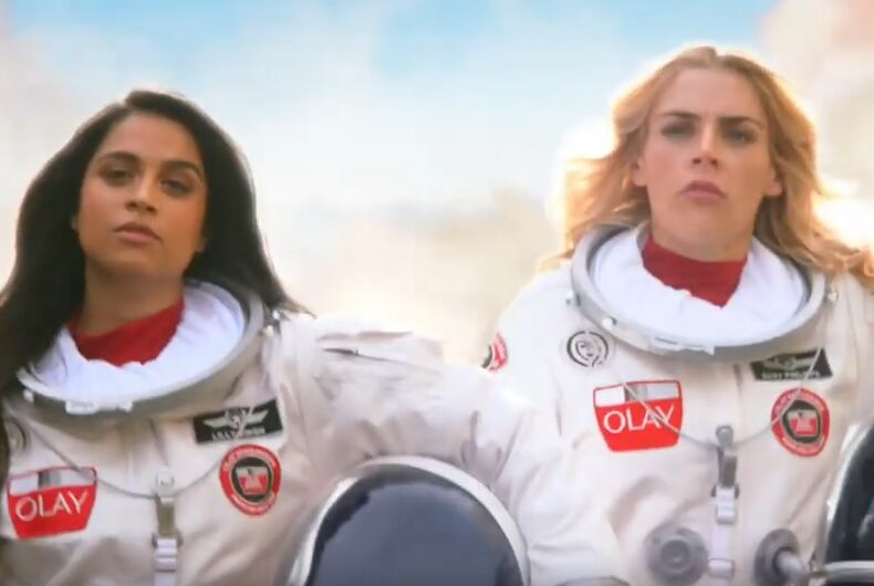 Lilly Singh and Busy Phillips will play astronauts in a new Super Bowl ad.