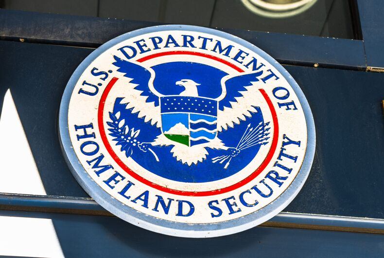 Nov 17, 2019 San Francisco / CA / USA - U.S. Department of Homeland Security Seal located at one of their buildings in downtown San Francisco