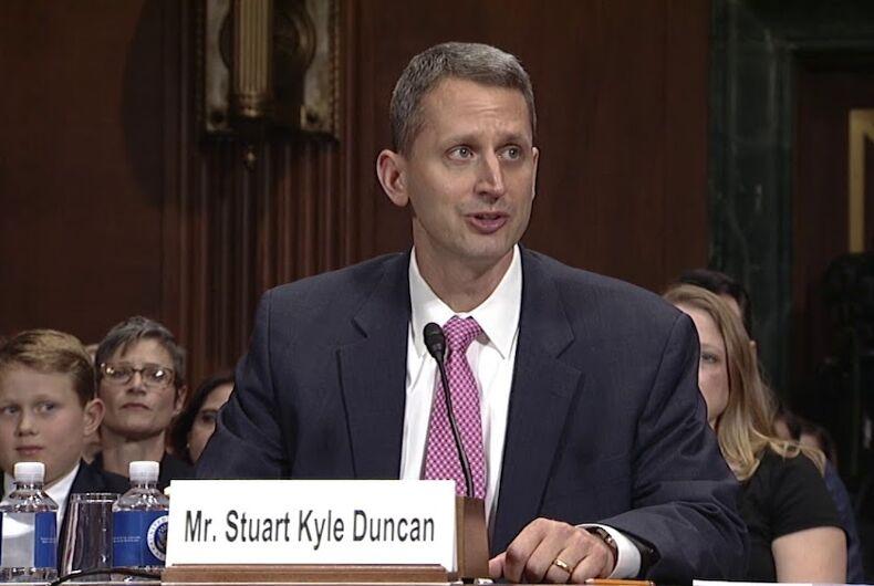 Stuart Kyle Duncan, a judge on the U.S. Fifth Circuit Court of Appeals