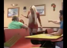 Two trans women beat the snot out of men harassing them in a restaurant