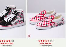 """Vans' new bisexual Valentine's Day sneakers proudly declare """"I ♥ BOYS, I ♥ GIRLS"""""""