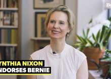 "Cynthia Nixon endorses Bernie Sanders, says he'll ""turn the system upside down"""