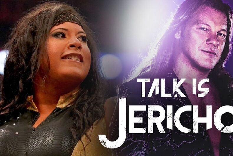Transgender wrestler Nyla Rose and Chris Jericho