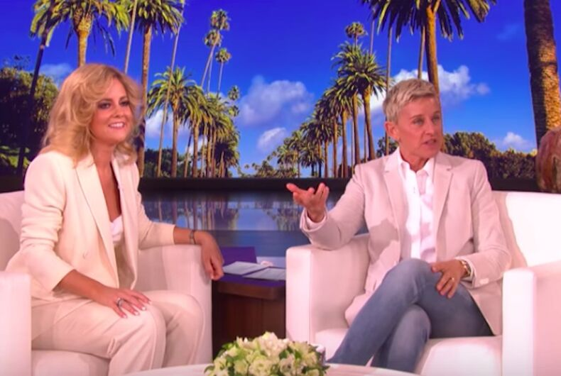 Charlotte Awbery on The Ellen Degeneres Show after singing Lady Gaga's