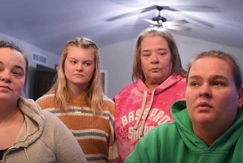 Chris Jackson, Destiny McDermitt, her grandmother Tina Brown, and Angela McDermitt-Jackson