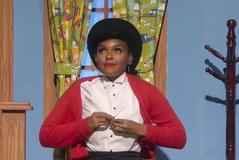 Janelle Monae at the Academy Awards