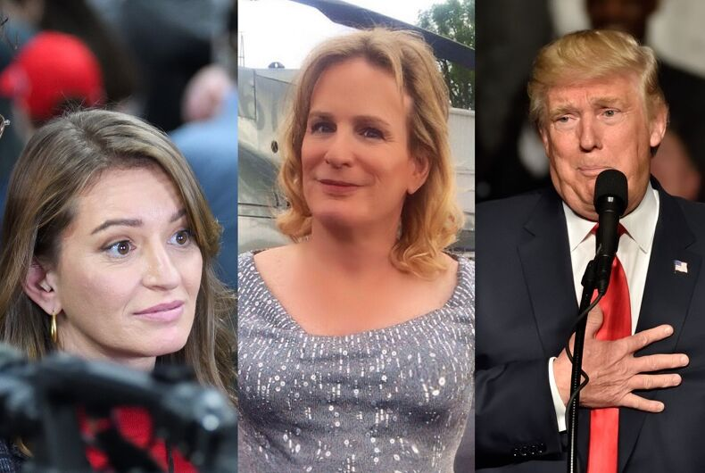 Katy Tur, Zoey Tur, and Donald Trump