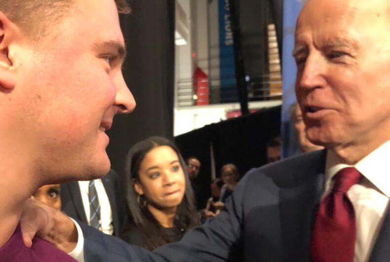 Out author James Duke Mason with Vice President Joe Biden.