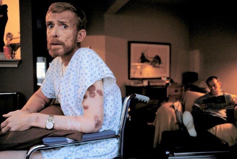 Ken Meeks, AIDS patient, San Francisco, 1986.
