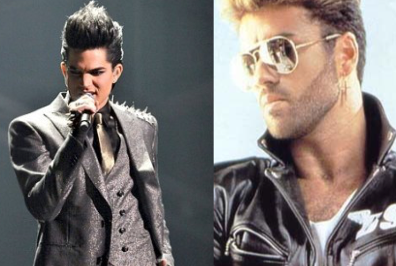 Adam Lambert (left) and George Michael (right)