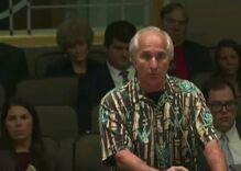 A Florida man spewed anti-LGBTQ insults so offensive at a public meeting a Republican shut him down