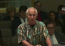 A Florida man spewed anti-LGBTQ insults so offensive at a public meeting a Republican shut him down