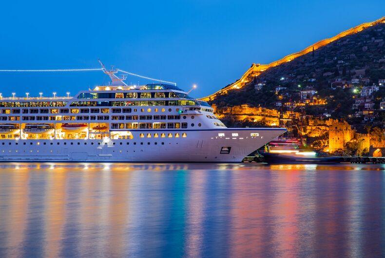 A cruise ship