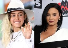 Demi Lovato & Miley Cyrus joke that they're friends because they're 'gay as f**k'