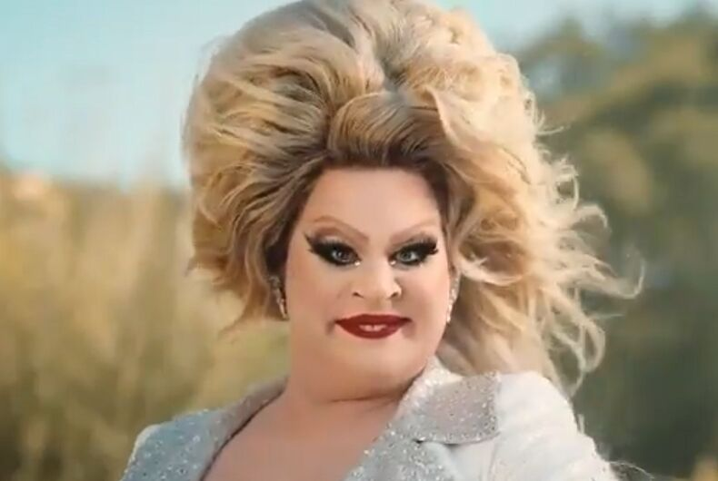 Nina West in the Pantene ad