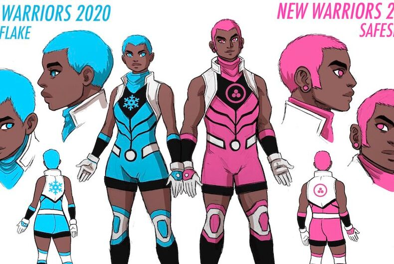 Snowflake is a non-binary superhero, and along with their twin brother Safespace, they're the newest members of Marvel Comics' The New Warriors.