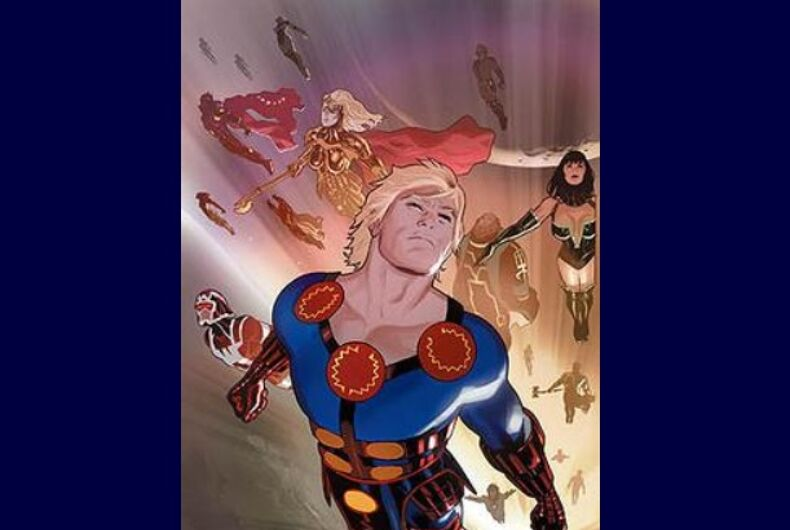 Cover art from The Eternals by Daniel Acuna.