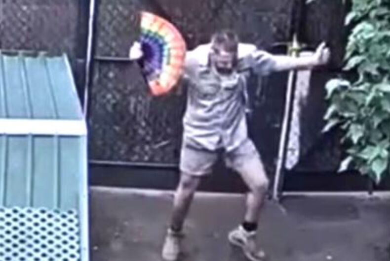 Adam the zookeeper dances at Zoo Victoria